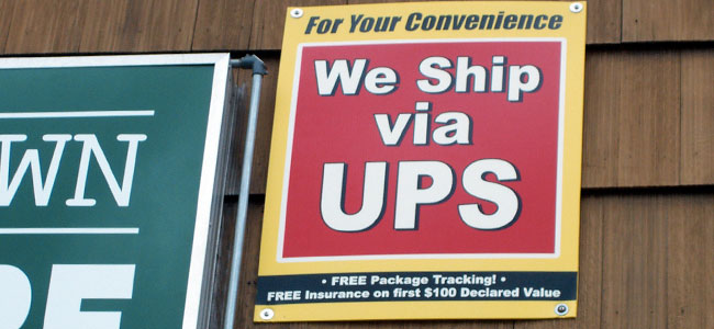 Come to us for all your UPS shipping needs, too